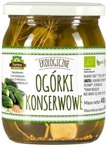 Ogórki Konserwowe (Na Occie Jabłkowym) Bio 500 g (275 G) - Farma Świętokrzyska
