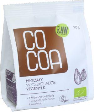 Migdały w Czekoladzie Vegemilk Bio 70 g - Cocoa