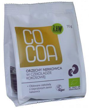 Orzechy Nerkowca w Czekoladzie Kokosowej Bio 70 g - Cocoa