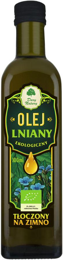 Olej Lniany Virgin Bio 100 Ml - Dary Natury