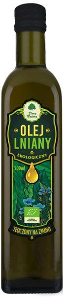 Olej Lniany Virgin Bio 500 Ml - Dary Natury