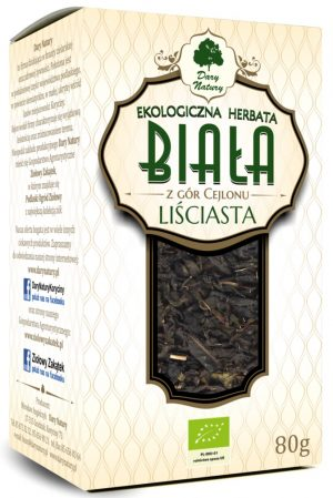 Herbata Biała Liściasta Bio 80 g - Dary Natury