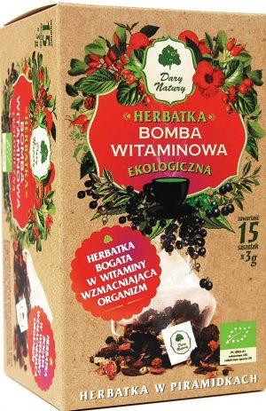 Herbatka Bomba Witaminowa Piramidki Bio (15 x 3 G) - Dary Natury