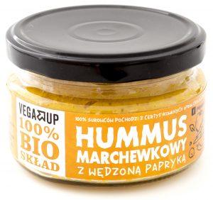 Hummus Marchewkowy z Wędzoną Papryką Bio 190 g - Vega Up
