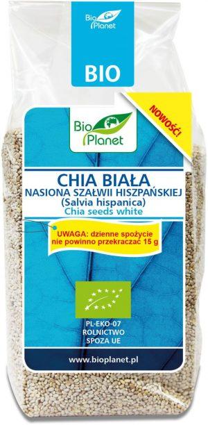 Chia Biała - Nasiona Szałwii Hiszpańskiej Bio 200 g - Bio Planet