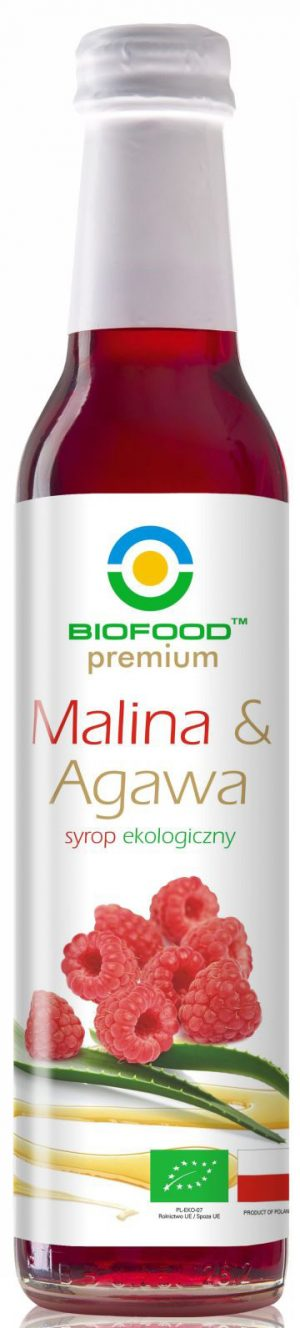 Syrop Malina z Agawą Bio 250 Ml - Bio Food