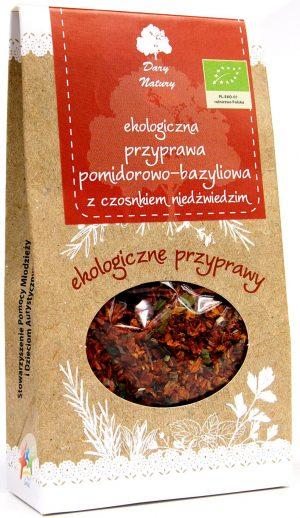 Przyprawa Pomidorowo - Bazyliowa z Czosnkiem Niedźwiedzim Bio 40 g - Dary Natury