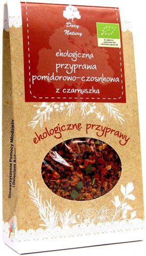Przyprawa Pomidorowo - Czosnkowa z Czarnuszką Bio 40 g - Dary Natury