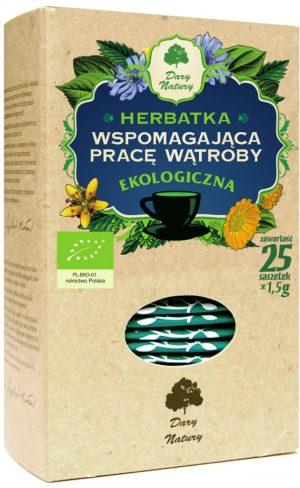 Herbatka Wspomaga Pracę Wątroby Bio (25 x 1,5 G) - Dary Natury