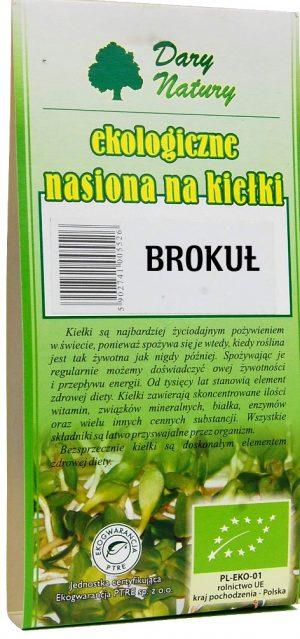 Nasiona Brokułu Bio Na Kiełki 30 g - Dary Natury