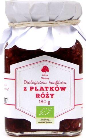 Konfitura z Płatków Róży Bio 180 g - Dary Natury