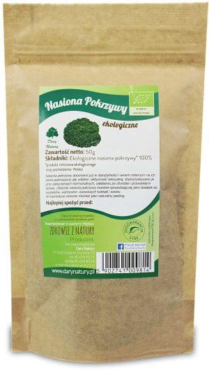 Nasiona Pokrzywy Bio 50 g - Dary Natury