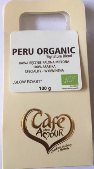 Kawa Palona Mielona Peru Organic Bio 100 g - Cafe Mon Amour