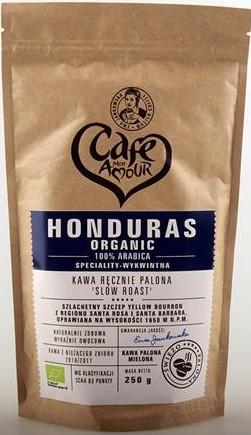 Kawa Palona Ziarnista Honduras Organic Bio 250 g - Cafe Mon Amour