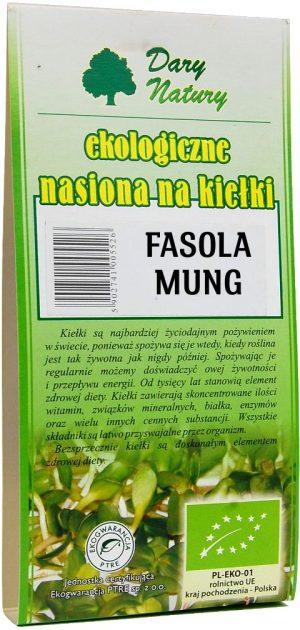 Nasiona Fasoli Mung Bio Na Kiełki 50 g - Dary Natury