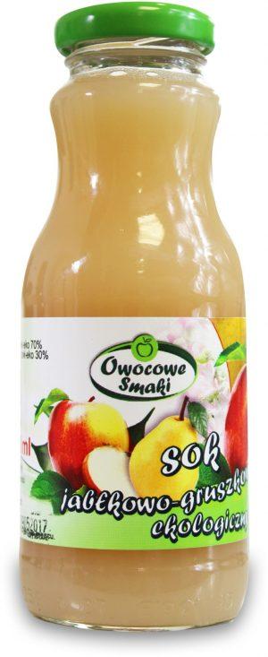 Sok Jabłkowo-Gruszkowy Bio 250 Ml - Owocowe Smaki