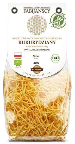 Makaron (Kukurydziany) Nitka Filini Bezglutenowy Bio 250 g - Fabijańscy