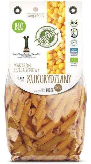 Makaron (Kukurydziany) Rurka Penne Bezglutenowy Bio 250 g - Fabijańscy