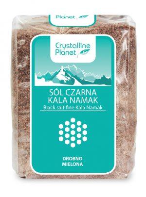 Sól Czarna Kala Namak Drobno Mielona 600 g - Crystalline Planet