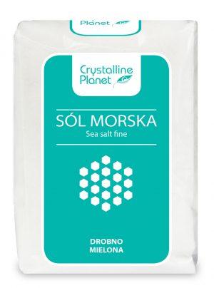 Sól Morska Drobno Mielona 600 g - Crystalline Planet