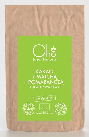 Kakao z Matchą i Pomarańczą Bezglutenowe Bio 100 g - Oho Bambuczi