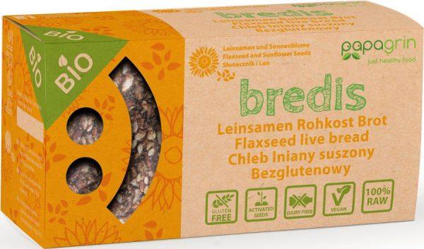 Chleb Lniany Suszony z Słonecznikiem i Lnem Bio 70 g - Papagrin