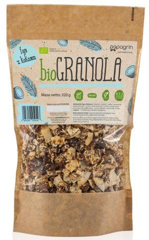 Granola Figa z Kokosem Bio 320 g - Papagrin