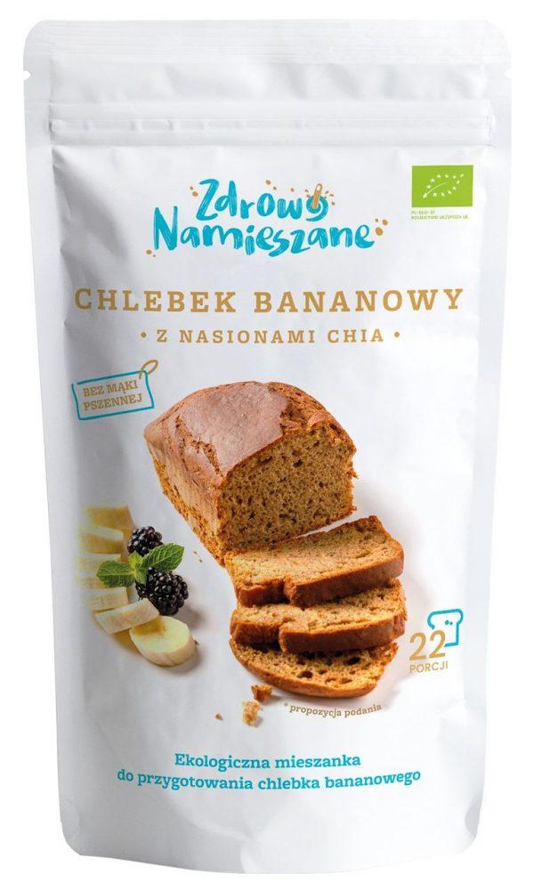 Chlebek Bananowy z Nasionami Chia Bio 400 g - Zdrowo Namieszane