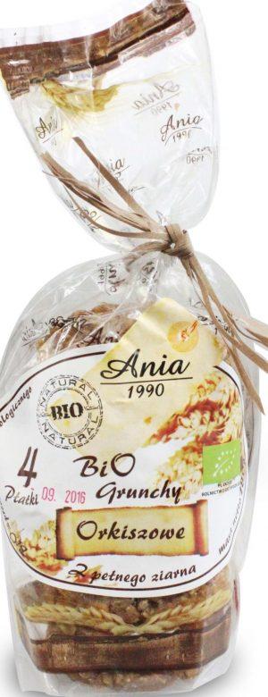 Grunchy Orkiszowe 4 Płatki z Pełnego Ziarna Bio 180 g - Bio Ania