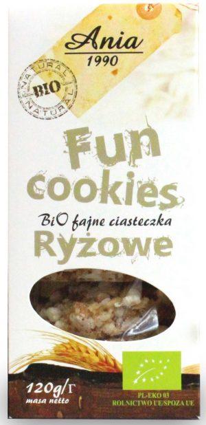 Fun Cookies Ryżowe Bio 120 g - Bio Ania