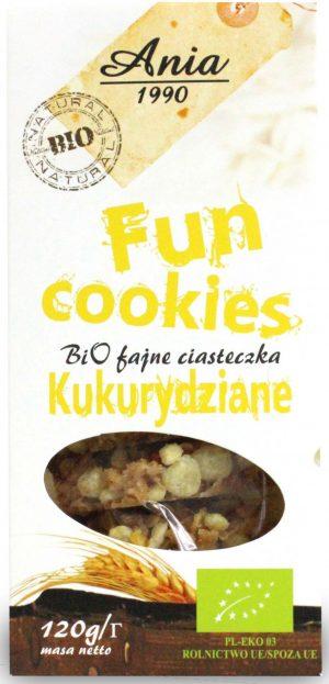 Fun Cookies Kukurydziane Bio 120 g - Bio Ania