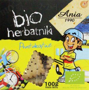Herbatniki Prostokątne Bio 100 g - Bio Ania
