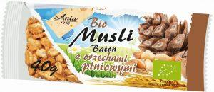 Baton Musli z Orzechami Piniowymi Bio 40 g - Bio Ania