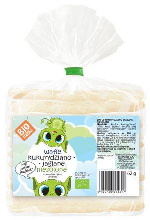 Wafle Kukurydziano-Jaglane Niesolone Bio 62 g - Biominki