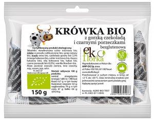 Krówki z Gorzką Czekoladą i Czarnymi Porzeczkami Bio 150 g - Ekoflorka