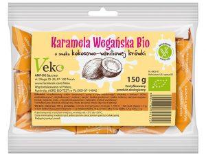 Karamela Wegańska o Smaku Kokosowej- Waniliowej Krówki Bio 150 g - Ekoflorka