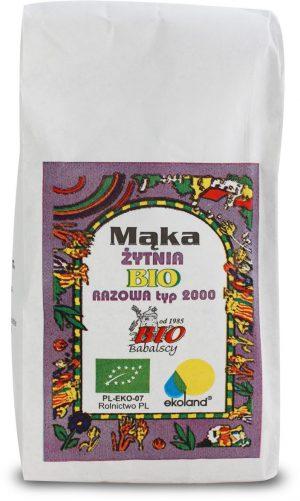 Mąka Żytnia Razowa Typ 2000 Bio 1000 g - Babalscy