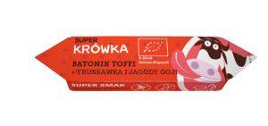 Batonik Toffi z Truskawką i Jagodami Goji Bezglutenowy Bio 30 g - Super Krówka - Me Gusto