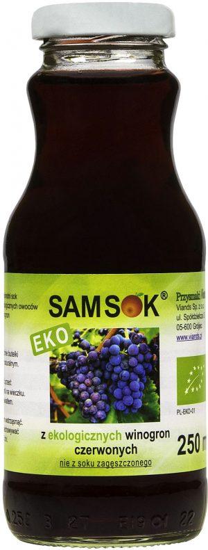 Sam Sok z Czerwonych Winogron Bio 250 Ml - Viands