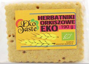 Herbatniki Orkiszowe Bio 190 g - Eko Taste