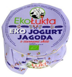 Jogurt Jagodowy z Ziarnami Zbóż Bio 200 g - Eko Łukta
