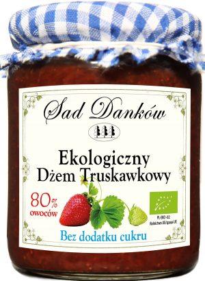 Dżem Truskawkowy B/c Bio 260 g - Sad Danków