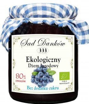 Dżem Jagodowy B/c Bio 260 g - Sad Danków