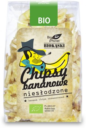 Chipsy Bananowe Niesłodzone Bio 150 g - Bio Planet