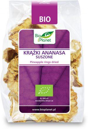 Krążki Ananasa Suszone Bio 100 g - Bio Planet