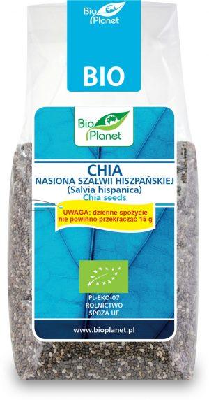 Chia - Nasiona Szałwii Hiszpańskiej (Salvia Hispanica) Bio 200 g - Bio Planet