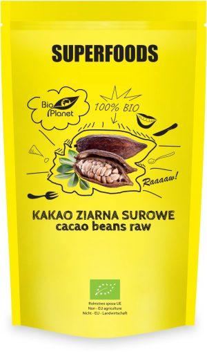 Kakao Ziarna Surowe Bio 200 g - Bio Planet