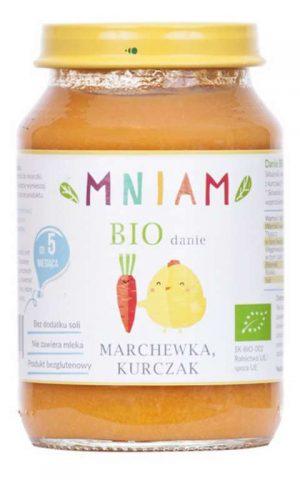 Danie Marchewka- Kurczak Powyżej 5 M-Ca Bio 190 g - Mniam