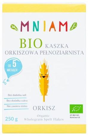 Kaszka Orkiszowa Pełnoziarnista Powyżej 5 M-Ca Bio 250 g - Mniam