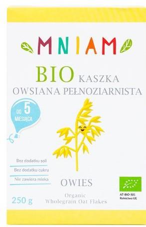 Kaszka Owsiana Pełnoziarnista Powyżej 5 M-Ca Bio 250 g - Mniam